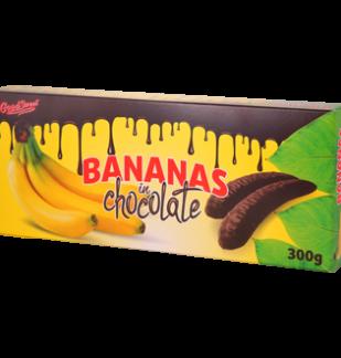 Habosított banános zselé étcsokoládéval mártva 300g