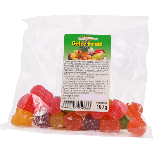 Fruit flavoured soft jelly